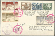 Germany, 28.01.1934 flown cover with triple frankatur Wagner and 3 vignette perforate, total 300 covers are flown, the flown covers have to have the Dienststempel (cancel) der NSDAP Ortsgruppe Thale/Harz, orig.signed by Gerhard Zucker