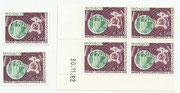 Monaco 731 stamp and block of 4 and imperforate 731 U in original clour
