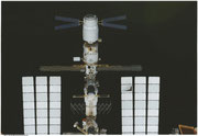 ATV-2 docked at Oribtalstation ISS