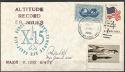 17.7.1962, launch cover of the X-15 flight from Robert White until an altitude of 95.940m, orig signed by Robert White, highest X-15 flight for that time