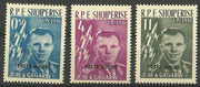 Yuri Gagarin Albania 647I-649I black overprint