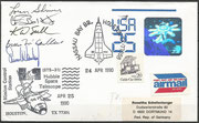 Launch cover STS-31 orig.signed by complete crew