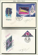 Russia, 2 covers orig.signed by Space Shuttle test pilot Rimantas Stankyavichyus