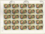 Cuba, Sojus 35 full sheet cancelled 2553