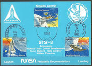 STS-8 NASA Philatelic documentation card