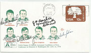 Cover  orig.signed candidates Daniel Brandenstein (STS8,STS 18 and STS 49), James Buchli (STS 15 and STS 22), Michael Coats  STS 12 ), Richard Covey (STS 26 and STS 61), John Creighton (STS 18) and  John Fabian (STS 18)