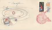 Yuri Gagarin original signature on cover ( with CCCP 2587aA)