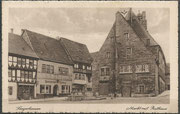Frontside of the postcard from Sangerhausen