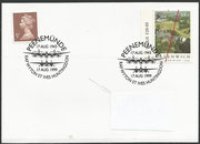 Cover for the 56th anniversary of the Peenemünde Raid by the British on 17 august 1943 (operation Hydra), postmark 17.08.1999