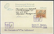 Austria, Faksimilie reprint from the Versuchsrakete  V7 ( first private rocket mail)  from 02.02.1931, from the original covers are flown 102 items