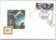 CCCP,Sojus 16 FDC orig.signed by Filiptschenko and Rukawischnikow  with 4344