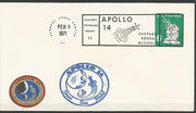 Landing cover Apollo 14 dated 9.2.1971, KSC cachet ca. 20000 items issued