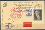 Austria, honoring the first rocket trials from Friedrich Schmiedl, cover  from 18.02.1971 with orig. signature from Schmiedl,