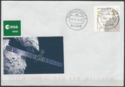Landing cover of probe Philea on the comet Tschuri on 12 of november 2014, cover postmarked in the mainpostoffice Darmstadt 1 (only 1,5 km far from the control center ESA) on 12 oclock with a very old steelcancel in very fine manner