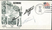 Gemini 6A launch cover dated 15.12.1965 orig signed by W.Schirra and autopen by Thomas Stafford