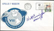 Launch cover Apollo 7 orig. signed by Walter Cunningham