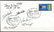 Launch cover STS-68 orig, signed by complete crew