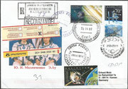 Launch cover Sojus TMA-2 dated 26.4.2003 with Lu and Malentschenko, exchange of Expedition 6