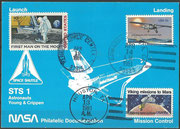 STS-1 NASA Philatelic documentation card