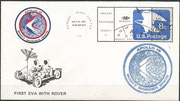 31.7.1971 first use of the moon rover and first EVA with moon rover, KSC cachet ca.3750 items issued