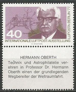 Germany, official vignette from Luposta Berlin 1977, stamp (vignette), design from the austrian artist Otto Stefferl, should come to an official stamp of Deutsche Post, but have not been realized