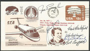 John Young /Bob Crippen (later STS-1 crew) and Truly/Engle (later STS-2 crew) and Hartsfield (STS-4)/Weyer handsigned shuttle trainings cover from 26.Januar 1977