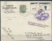 Rocketflight No.87, Jerong, dated 01.10.1935, 200 cards are flown and orig.sigend by Smith