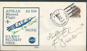 Recovery cover Apollo 9 orig.signed by complete crew
