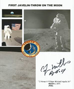 NASA photo, personal remarks and orig. sigend Mitchel