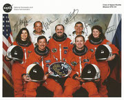 NASA Lithographie from Space Shuttle STS-101 complete crew signed autopen