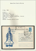 Russia. BURAN missions introduction document for first unmanned flight to Space, BURAN 1.01 F-1-Mission, amd one launch cover