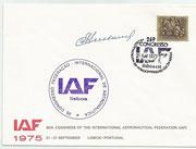 CCCP, IAF ( 1975) cover orig.sigend by Wostok 3 cosmonaut  Andrian Nikolajew