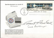 2.8.1971, FDC of the moon rover stamp and launch from the  moon, orig. signed by stamp designer McCall and Stuhlinger