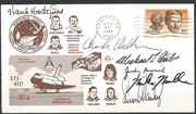 STS-41D, landing cover orig.signed by complet crew, including Judith Resnik+(STS-51L)