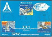 STS-4 NASA Philatelic documentation card