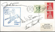 Launch cover Skylab 3 orig. signed by complete crew, KSC cachet ca. 6000 issued