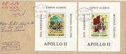 Fujeira, complete set of 12 values overprinted in gold on epreuve de luxe sheetlets, impeforate, stories from 1001 nights with overprint Apollo 11,on FDC, 25 items issued