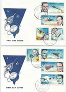 Qatar, Gemini 6 and 7 honoring the US astronauts, FDC perforate set
