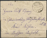 Cover from Jutrosin (Poland) to Germany dated 31.03.1924, with the Kopernikus stamps Poland 184, stamp issued with another value celebrating the 450 th anniversary of N.Kopernikus, frontside with mail adress