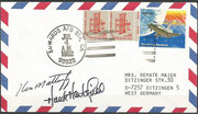 4.7.1982, landing of Columbia STS-4 in Edwards, orig.signed by complete crew