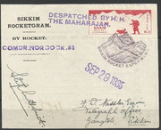 Rocketflight No.85, Cdr.Norcock, dated 28.09.1935, 170 cards are flown and orig.sigend by Smith