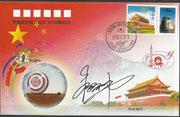 Shenzhou 5 landing cover orig. signed by Yang Liwei