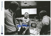 Photo during Apollo 13 mission from control center Houston, orig.signed by Eugene Kranz