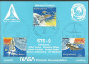 STS-9 NASA Philatelic documentation card