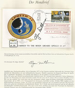 Apollo 14 moon cover, facsimilie cover, orig. certifacated by Ed Mitchel