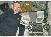 Sojus TMA-15, ESA astronaut  Frank de Vinne (Belgium) in space on ISS, Litho , ISS expedition 20 and 21