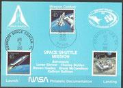 NASA philatelic card STS-31