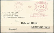 "Postcard from 19.12.1929 to Helmut Diers (Catalogue of postmark and strikes from 1929), concerning the movie from Fritz Lang fro october 1929 ""Frau im Mond"" where Hermann Oberth, Willy Ley and Rudolf Nebel have given technical support"