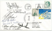 Space Shuttle STS 51 D launch KSC ( Flight 16 ) orig, signed by crew
