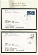 Russia, BURAN-mission, 2 mission-covers from taxi test dated 02.08.1985 and taxxi test dated 05.08.1984